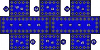 Elephant Tischgarnitur Blau 180x90