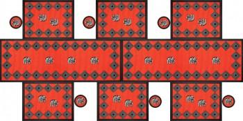 Elephant Tischgarnitur Rot 180x90