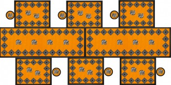 Elephant Tischgarnitur Orange180x90