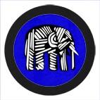 Elephant GlasPad Blau 10cm
