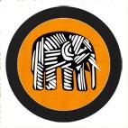 Elephant GlasPad Savannah Orange 10cm