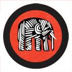 Elephant GlasPad Rot 10cm