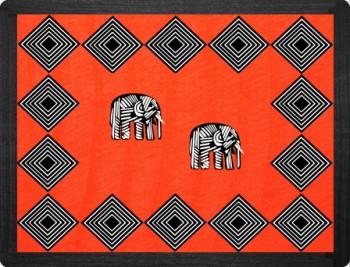 Elephant Tischset Rot 38x29
