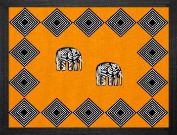 Elephant Tischset Savannah Orange 38x29