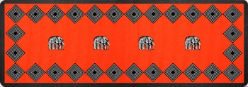 Elephant Tischläufer Rot 90x32