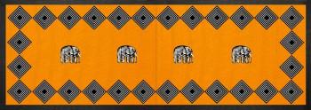 Elephant Tischläufer Savannah Orange 90x32
