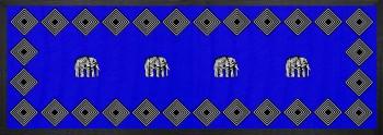 Elephant Tischläufer Blau 90x32