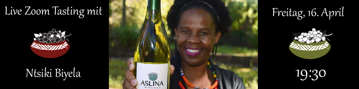 Zoom Tasting mit Ntsiki Biyela - Aslina Wines Stellenbosch